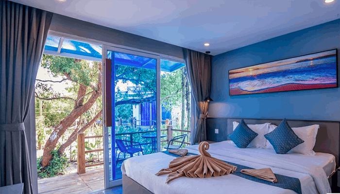 Bên trong phòng của Sara Resort – một trong những resort mới ở Koh Rong Samloem.