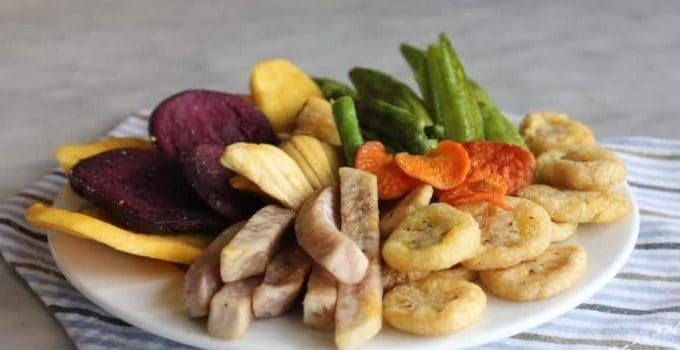 Các loại rau củ quả được sấy khô để bảo quản lâu hơn