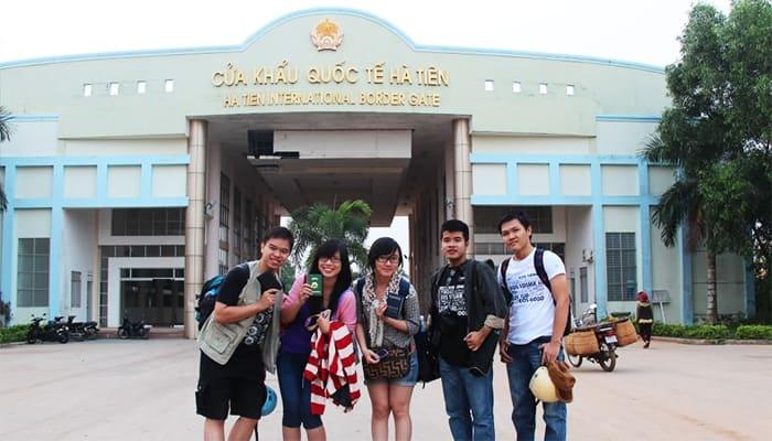Cửa khẩu Xà Xía ở Hà Tiên.