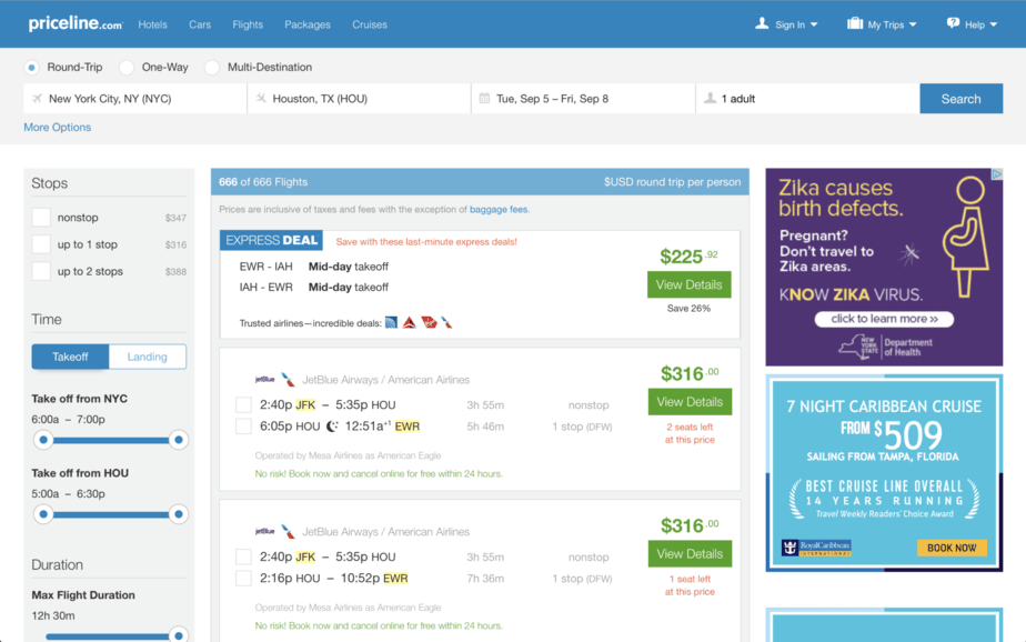 Priceline-flight-express-deal