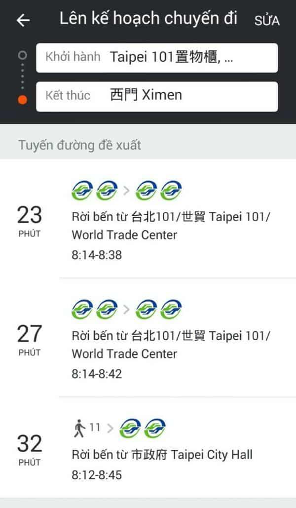 Gợi ý các tuyến tàu điện Đài Bắc