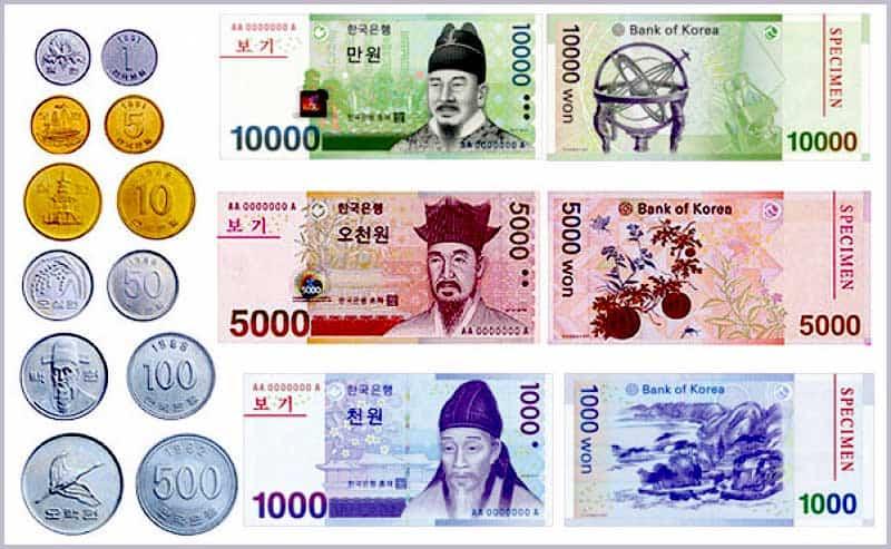 Tỷ giá tiền Hàn Quốc do ngân hàng bán ra