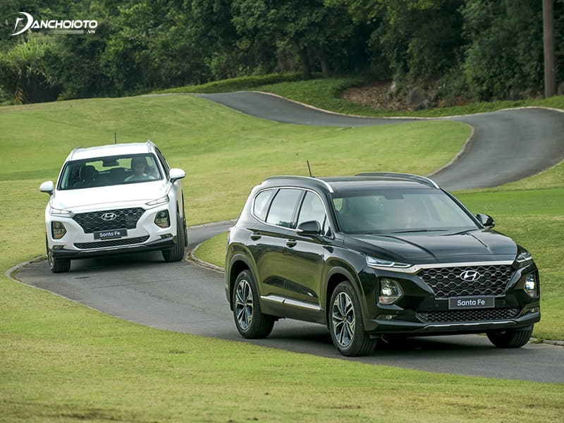 Mức tiêu thụ nhiên liệu Hyundai SantaFe được đánh giá là rất tiết kiệm