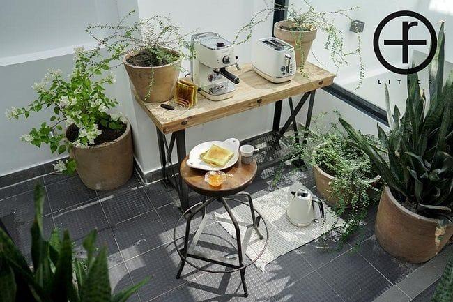 Không gian thưởng thức trà và coffee tại Litier Homestay