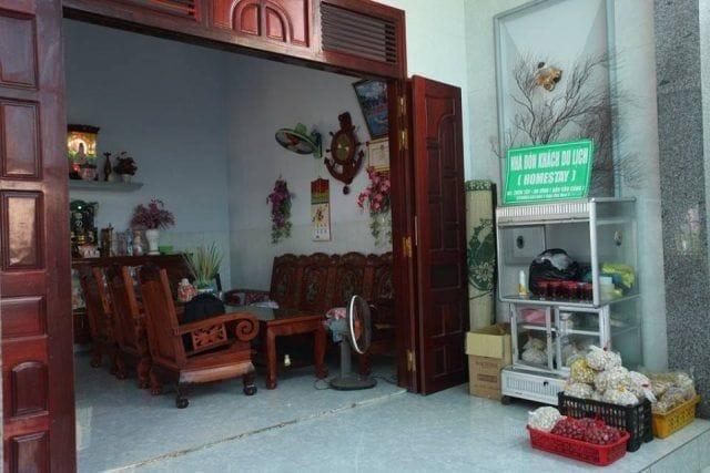 Phòng khách của homestay (Ảnh ST)
