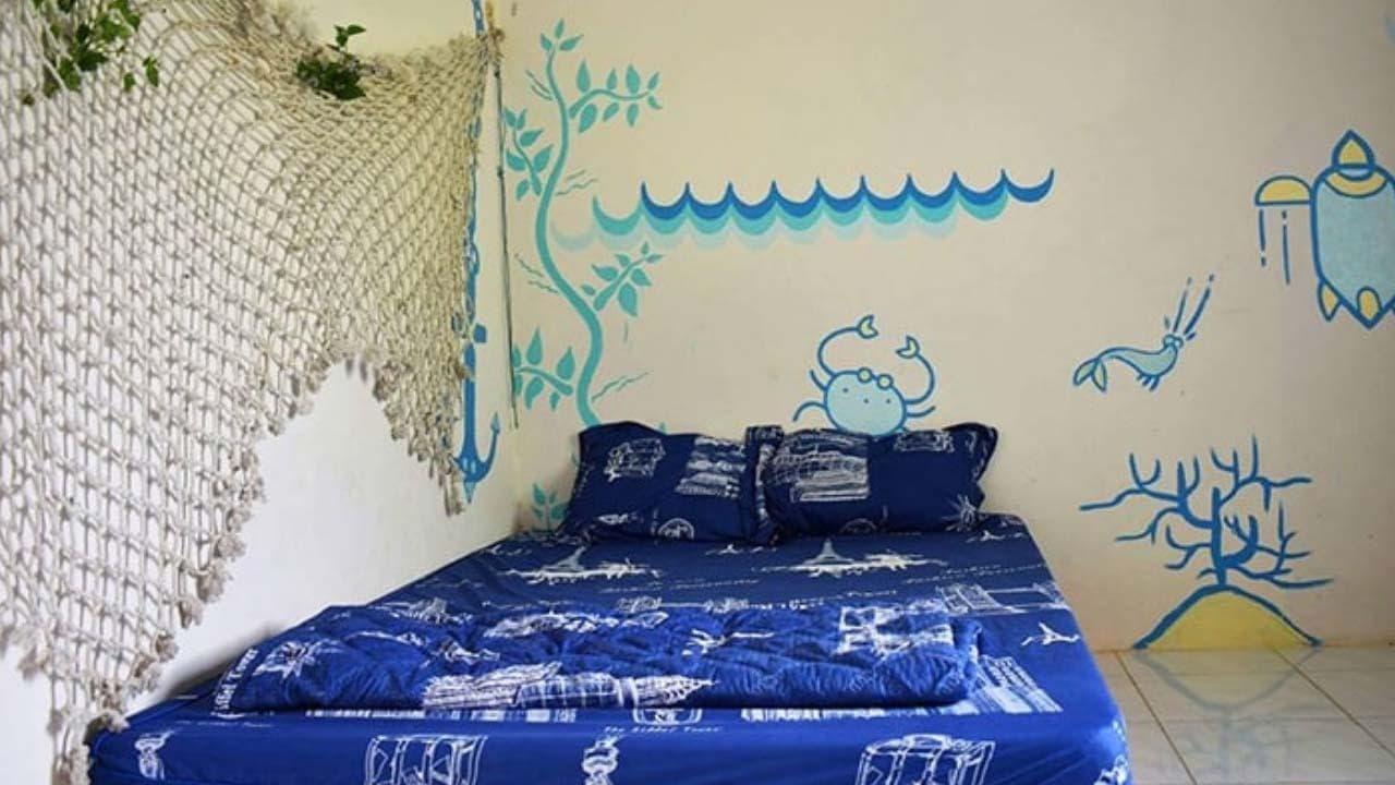Phòng nghỉ dành cho 2 người cực đáng yêu của Bụi homestay Lagi