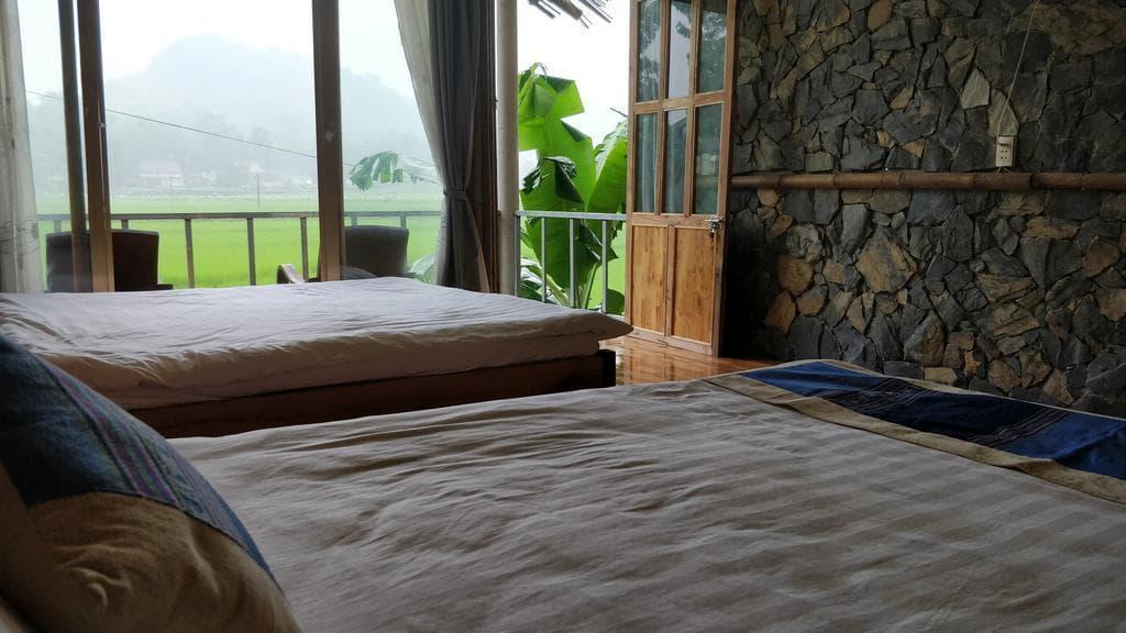Phòng ngủ 2 giường Little Mai Châu homestay