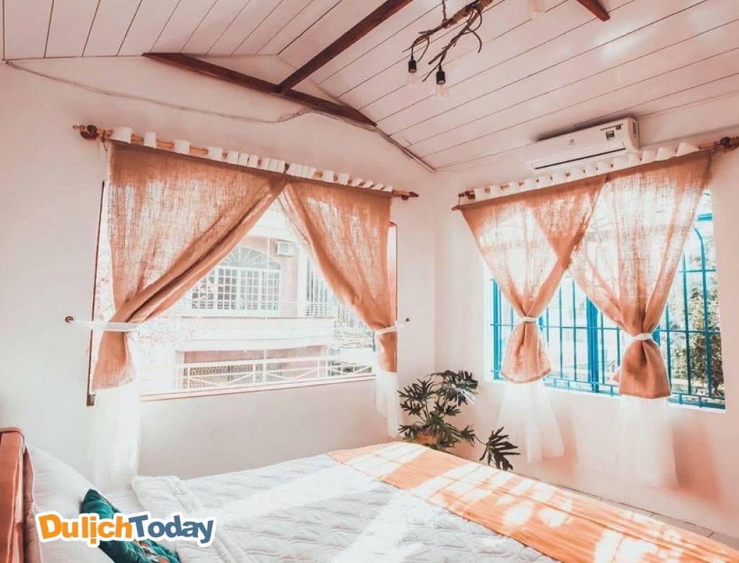 Phòng ngủ lung linh tại Homie homestay Nha Trang