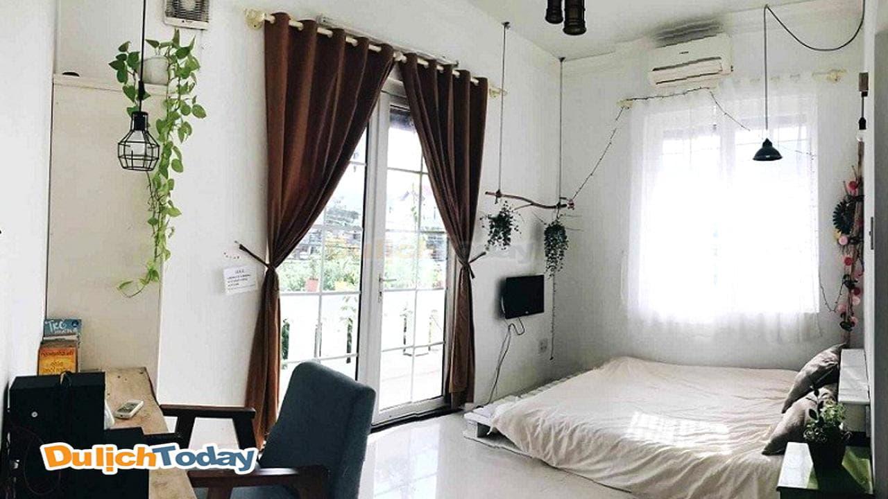 Phòng ngủ tại S house được trang trí đơn giản nhưng lại vô cùng tinh tế