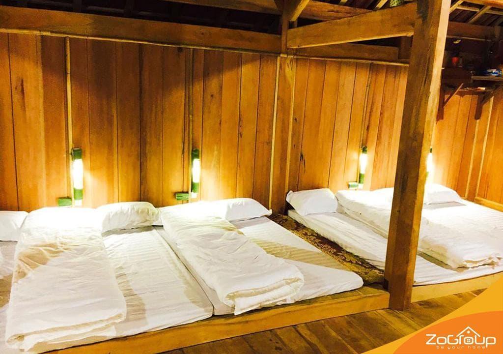Phòng ngủ tập thể Zostay Homestay Mai Châu