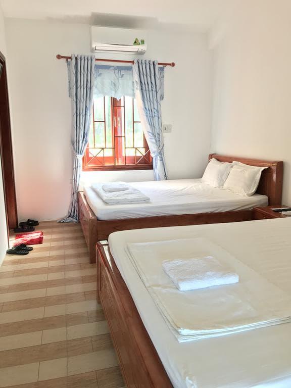 Thiết kế phòng sạch sẽ, giường đôi rộng rãi và êm ái. Tiện nghi đầy đủ là những điểm nổi bật tại Homestay Cù Lao Chàm Trường Kép