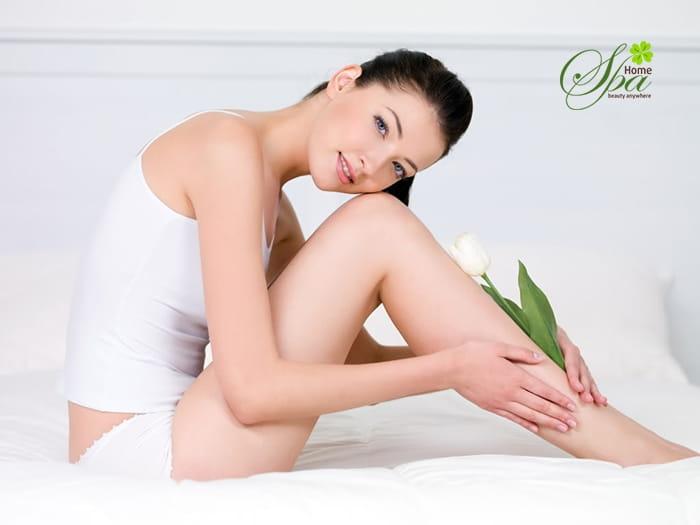 Làn da trắng sáng không tì vết sau khi trải nghiệm dịch vụ triệt lông tại home spa