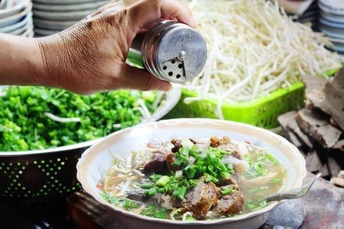 Lòng sả món ăn độc đáo Quảng Trị