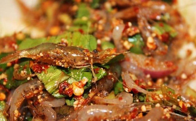 Món gỏi tép nhảy Quảng Trị