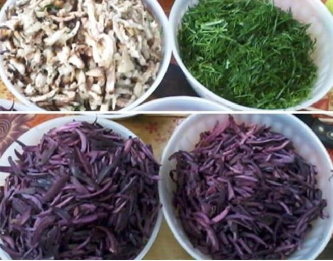 Nguyên liệu món nham Thái Nguyên