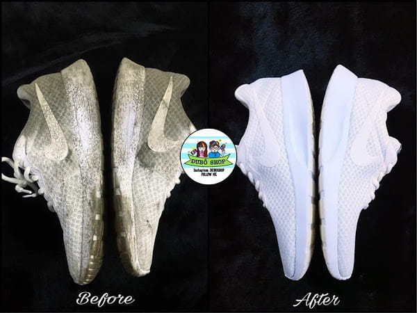 Vệ sinh giày trắng tại Duboshop