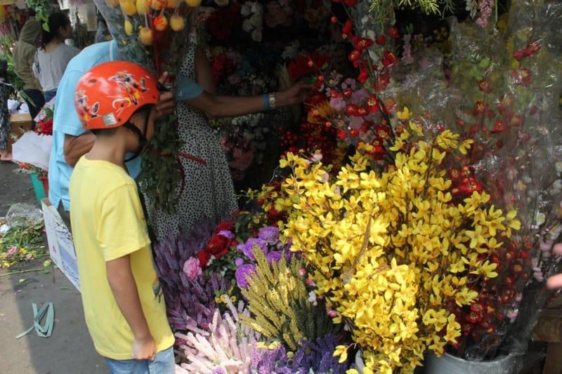 Hoa bán ở Mê Linh