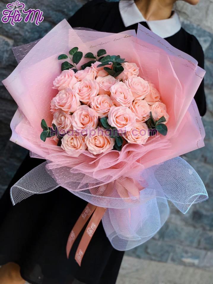 Hoa hồng sáp thơm Hà Mi